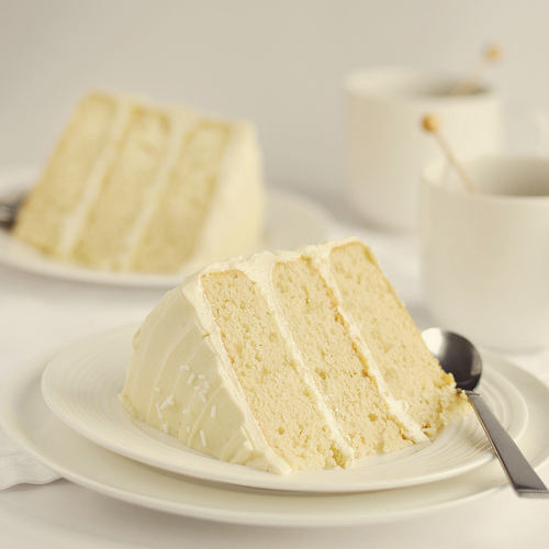 slice of white cake