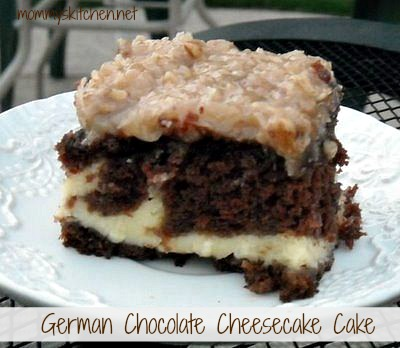 german chocolate cheescake cake